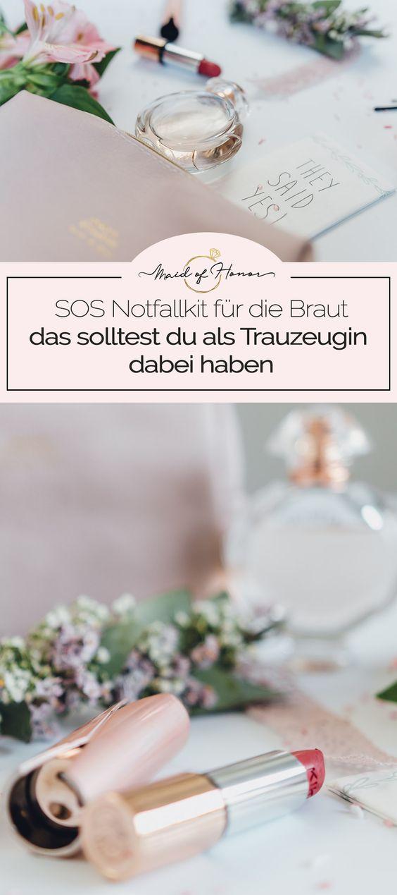 SOS Notfallset: Das solltest du am Tag der Hochzeit dabei haben