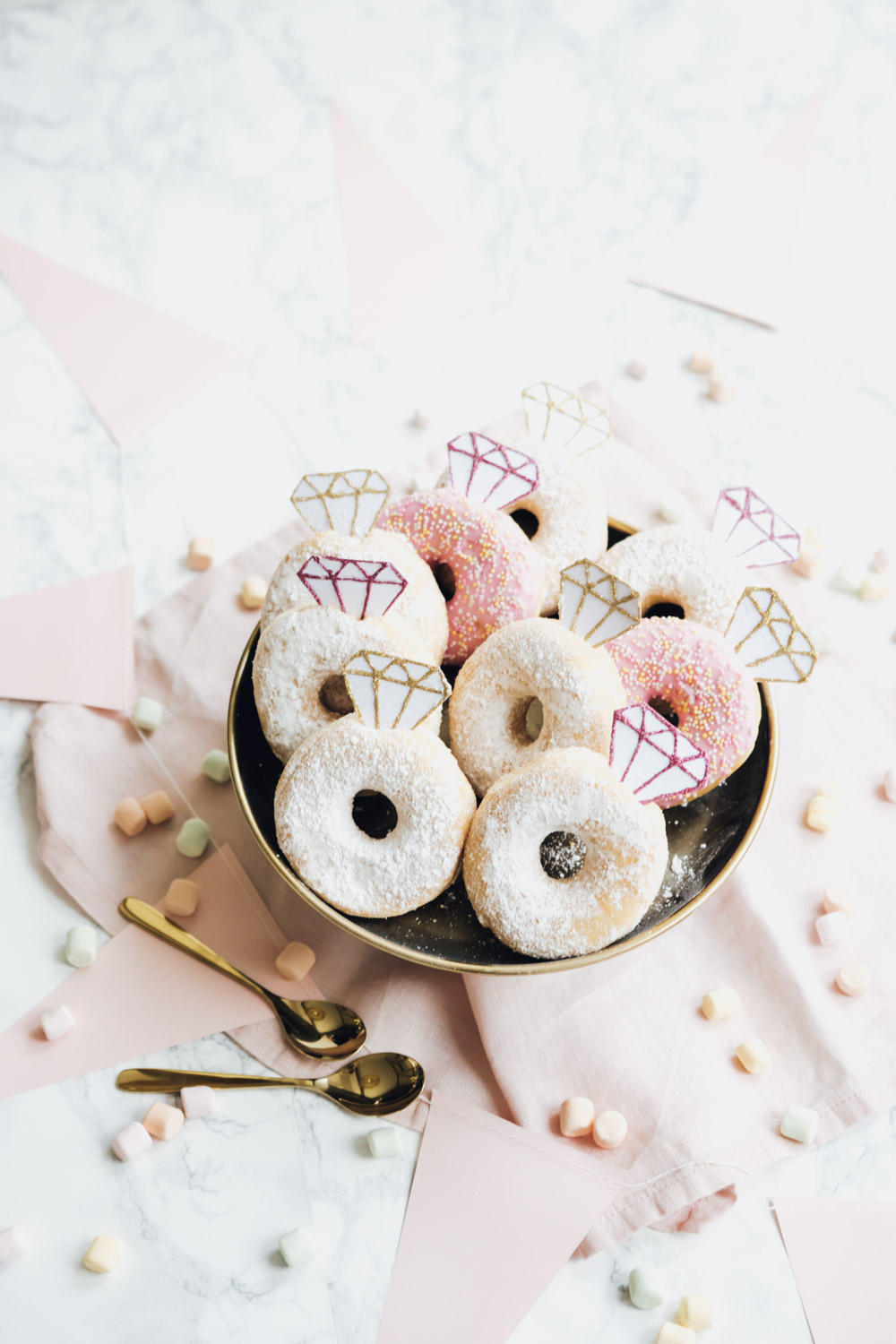 Donut Topper, Freebie, Download, DIY, Maid of Honor, Trauzeugin, Hochzeit