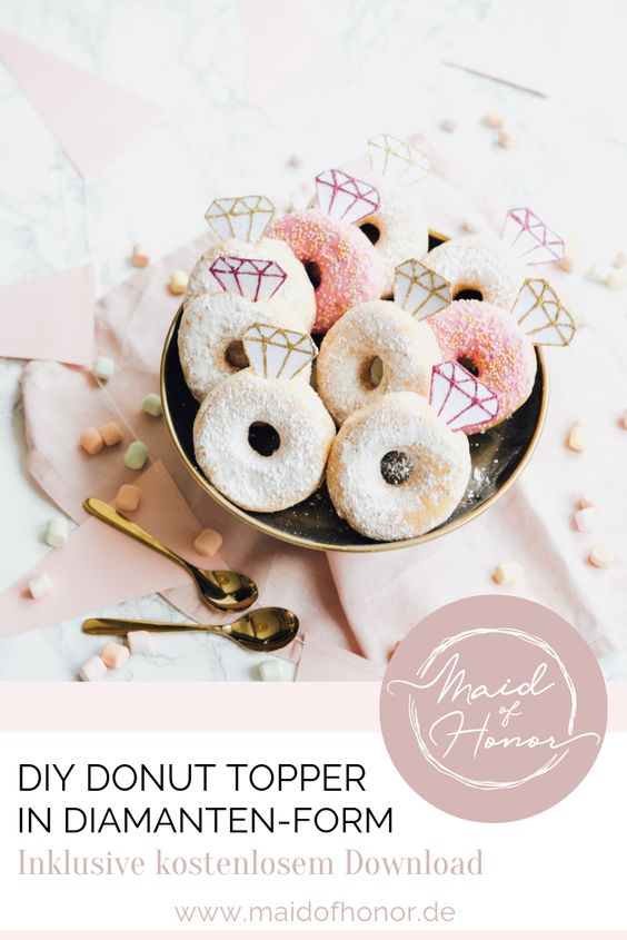 DIY Donut Topper in Diamantenform