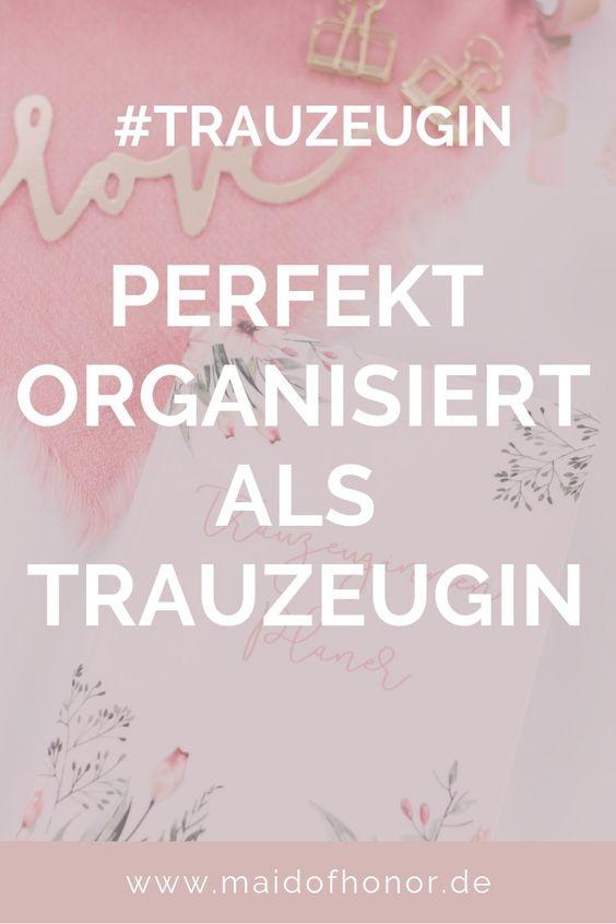 Trauzeuginnen-Planer - so bist du perfekt organisiert