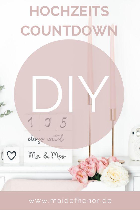 Hochzeitscountdown - süßes DIY für die Braut