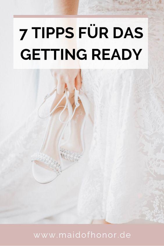 Getting Ready - Tipps für einen entspannten Hochzeitsmorgen